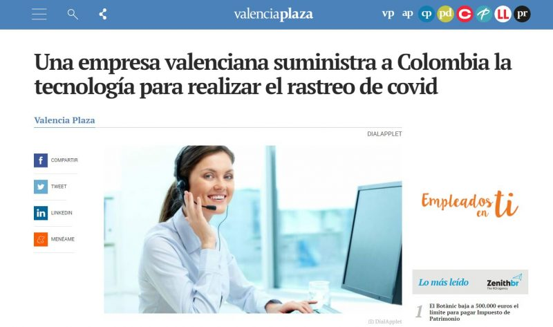 Dial Applet covid Colombia